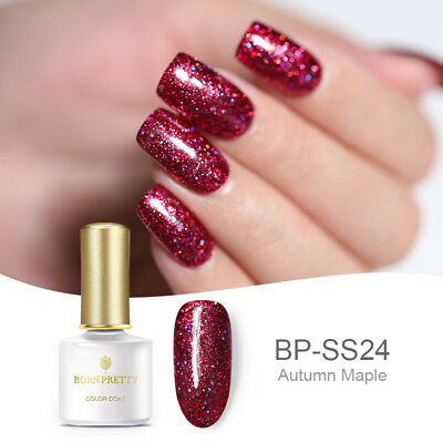BORN PRETTY 24 Colors Starry Glitter UV Gel Nail Polish Soak Off Gel Varnish