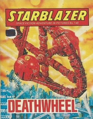 Deathwheel,starblazer Space Fiction Adventure In Pictures,comic,no.140