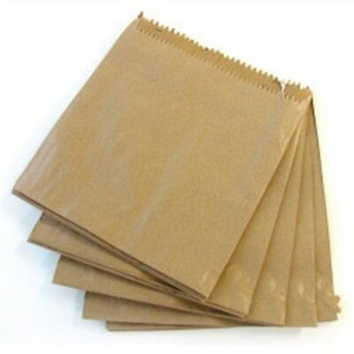 Brown Fruit Bag, Strung 7 x 7 (178 x 178mm) - Pack 1000