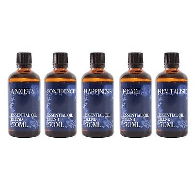 Gift Starter Pack of 5 x 50ml - Mental Wellbeing - Oil Blends (SP50EOBMENTWELL)