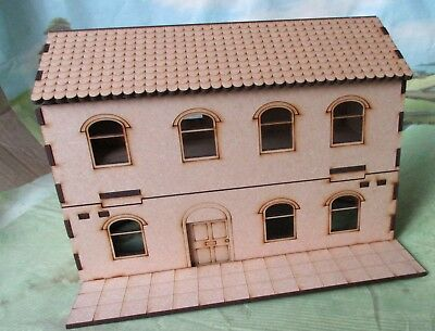 28mm House with front pavement and back yard Laser cut Bolt Action Scenery