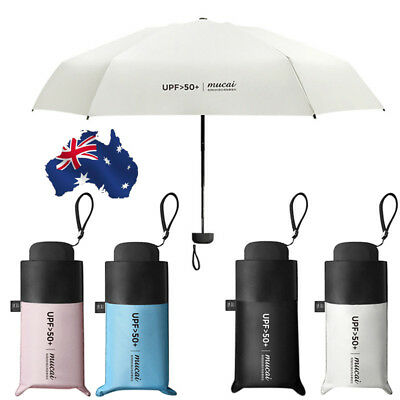 Mini Portable 5 Folding Compact Super Windproof Anti-UV Rain Sun Travel Umbrella
