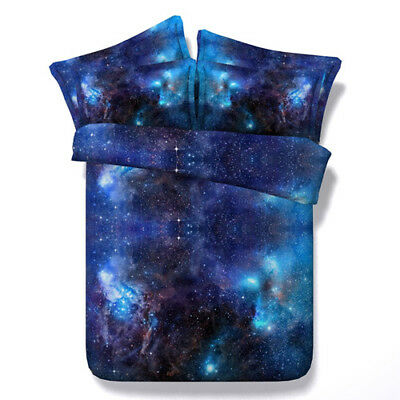 Universe Galaxy Doona Duvet Quilt Covers Set Single/Double/Queen/King Size Bed
