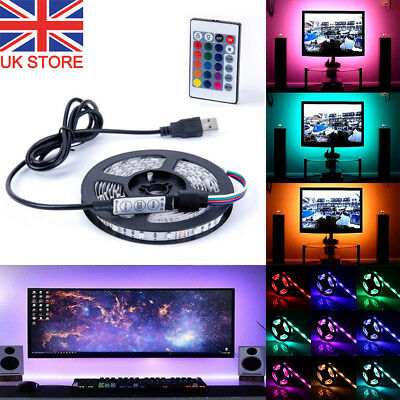 1M 2M 3M 4M USB RGB LED Strip Light Lights Backlight for LCD TV Computer Monitor