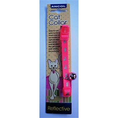 Ancol Ultra Safe Hi Vis Reflective Safety Release Neon Bright Cat Collar Pink