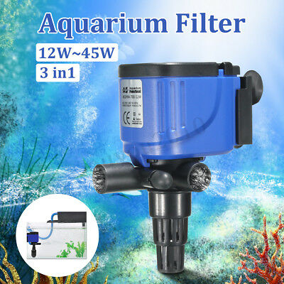 3 in 1 Aquarium Fish Tank Internal Filter Submersible Oxygen Air Pump 220-240V