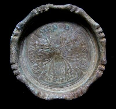 Medieval Period Crusaders bronze Plate with Cross 1200-1400 AD