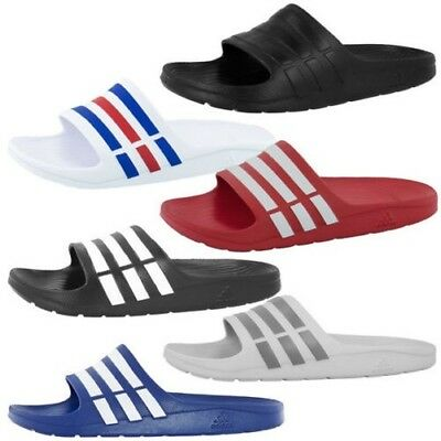 newest f0be7 f162e Adidas Duramo Slide Men Hommes Tongs Chaussures Flops Sandales Pantoufles