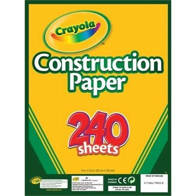 Crayola Construction Paper, 240 Count, Assorted Colors - Paper Different