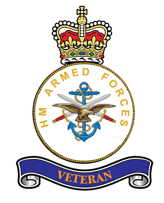 """Regimental  Stickers  X 2  Hm Armed Forces Veterans  Stickers   5"""" Military"""