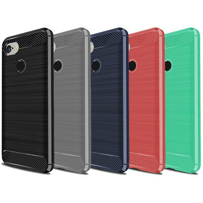 """DD Carbon Fibre For Google Pixel 3 XL 6.3"""" TPU Rugged Gel Case Silicone Cover"""