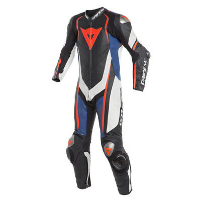 Dainese Kyalami Perforated 1-pc Suit Black/White/Blue