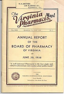 1938 THE VIRGINIA PHARMACIST Richmond ANNUAL REPORT W. G. Smither