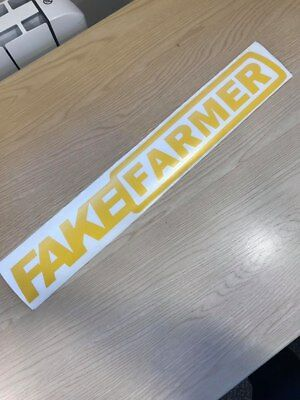 Tractor Window Decal Sticker CASE MASSEY NEW HOLLAND Fake Farmer Fake Taxi