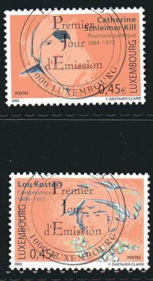 Luxembourg Y&T 1549/50  - famous women SCHLEIMER-KILL KOSTER  - 2003 1st day