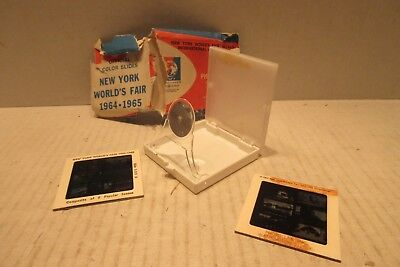 1964 - 1964 New York Worlds Fair Color Slides and Viewer Unisphere USS