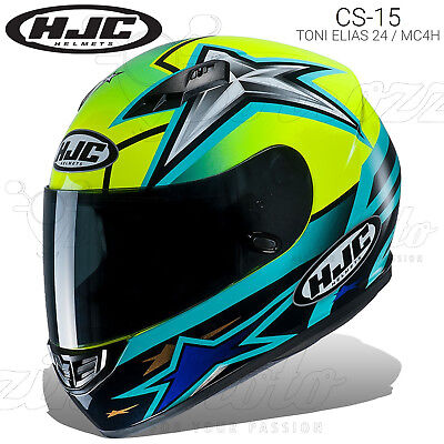Casco Integrale Hjc Cs-15 Replica Toni Elias 24 / Mc4H Moto 2019 Policarbonato