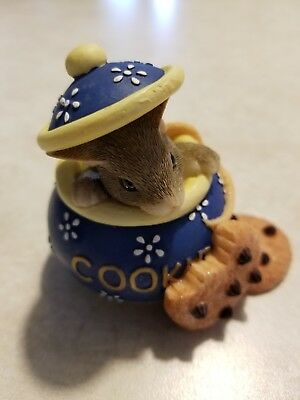 Charming Tails Figurine, Mouse in Cookie Bowl, Fitz and Floyd