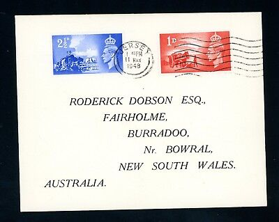 Jersey 1948  Cover to Australia Liberation Set  Not First Day    (O659)
