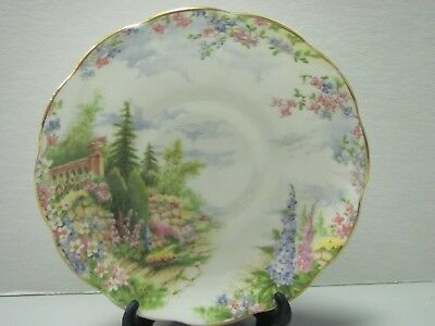 Royal Albert Kentish Rockery Gold-Colored Cup and Saucer