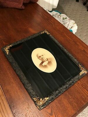 Antique Vintage Macabre Framed Victorian Mourning Death Photo/Picture/Ghoulish