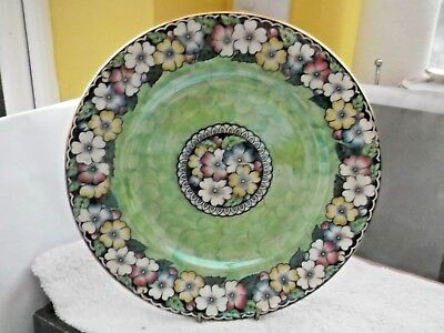 1924+  Large Plate By Maling  Floral Pattern With Green Trim  Pattern  6450