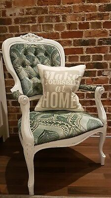 French style, ornate, shabby chic Chair upholstered with velvet damask fabric