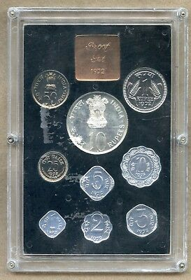 India ~ 1972 ~ Proof Set ~ 9 Coins