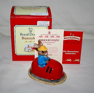 "Royal Doulton ""dodgem"" Bunnykins Artist Signed Figurine With Box (2001)"