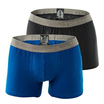 Tom Tailor Lot de 2 Lot Short Hommes Boxer Brief Basic S-XL - Bleu/Anthracite