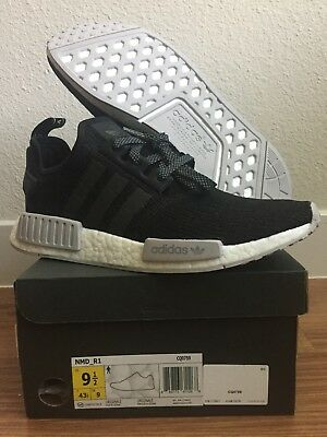 9f95eff6d794d New Unworn Adidas Black Grey Reflective Champs Nmd R1 Men 9.5 With Box