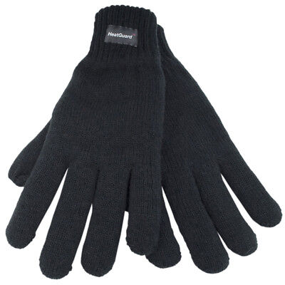 Mens Thermal Knitted Winter Gloves Thinsulate Lined sizes M/L L/XL