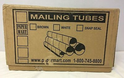 """50 Bulk Mailing Tubes Only 2"""" X 12"""" 0.060 Thick"""