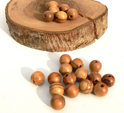 600 ~ Olive Wood 8mm Round Beads Polished Rosary Jewelry Bethlehem Jerusalem