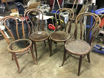 Antique Set of 4 Bentwood Parlor Chairs