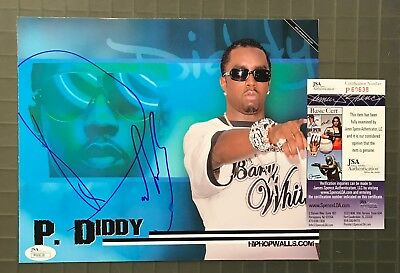 P. Diddy Signed 8x10 Photo Autographed AUTO JSA COA Puff Daddy