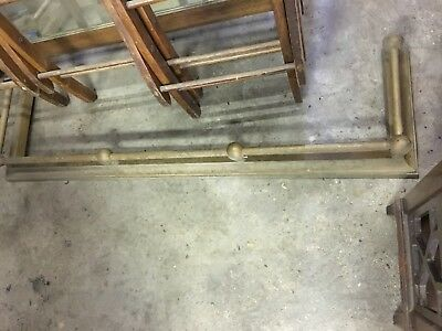 Antique 1900's Large Solid Brass Fireplace Fender