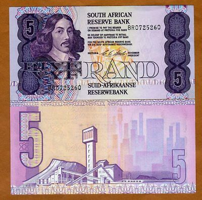 South Africa, 5 rand, ND (1990-1994), P-119 (119e), Sig. 7 aUNC