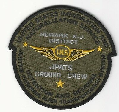 Aviation Subdued US Immi Ground Crew Air wing INS New Jersey Police Sheriff NJ