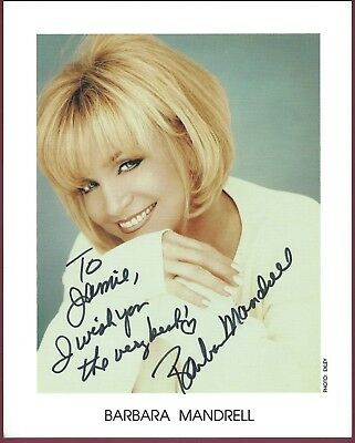 """Barbara Mandrell, Country Singer, Signed 8"""" x 10"""" Color Photo, COA. UACC RD 036"""
