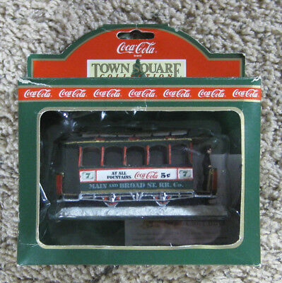 Coca Cola Town Square 1992 Christmas Trolley Old Number Seven Main & Broad