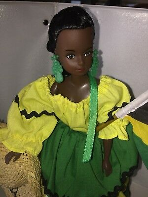 Nationally Dressed Doll Colors Of Jamaica