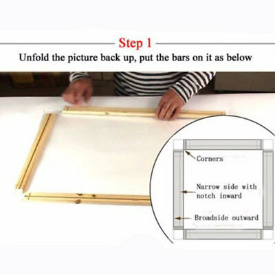 Wood Bar For Canvas Painting Art Stretcher Strip 20-50cm Craft Christmas Gifts