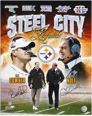 NFL Pittsburgh Steelers Bill Cowher and Chuck Noll Signed 16