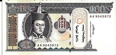 Mongolia 2008 100 Tugrik Currency Unc