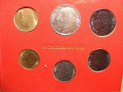 Vatican 1981 Mint Set - With Silver 500 Lira - 6 Coins