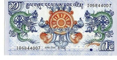 Bhutan 2006 1 Ngultrum Currency Unc