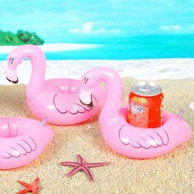 1PC Mini Flamingo Floating Inflatable Drink Can Cell Phone Holder Stand ForPool