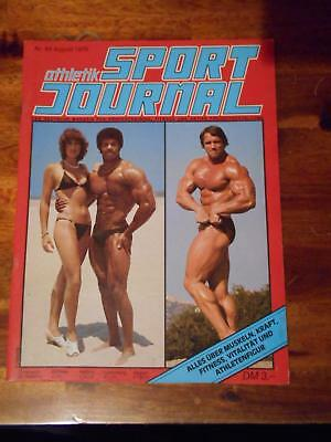 athletik SPORT JOURNAL bodybuilding muscle magazine ARNOLD SCHWARZENEGGER #64