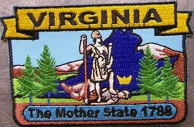 Embroidered USA State Patch Virginia NEW montage